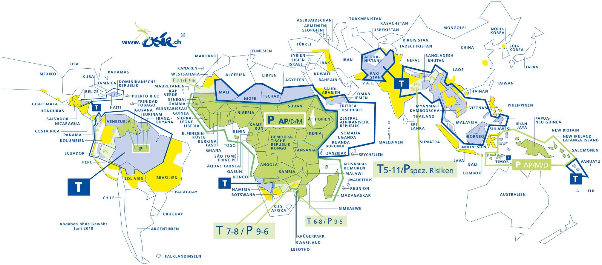 Malaria Kenia Karte.Malaria Osir Reise Medizin