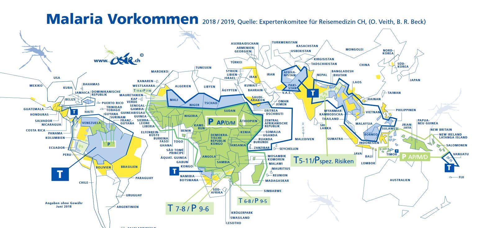 Malaria Karte Thailand.Malaria Prophylaxe Osir Reise Medizin